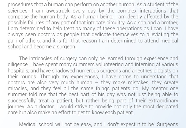 Help With Medical School Statement Of Purpose | Statement Of