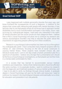 Statement of Purpose Graduate School Sample