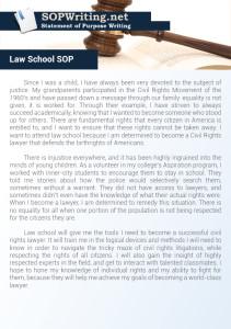 Law School Statement of Purpose Sample