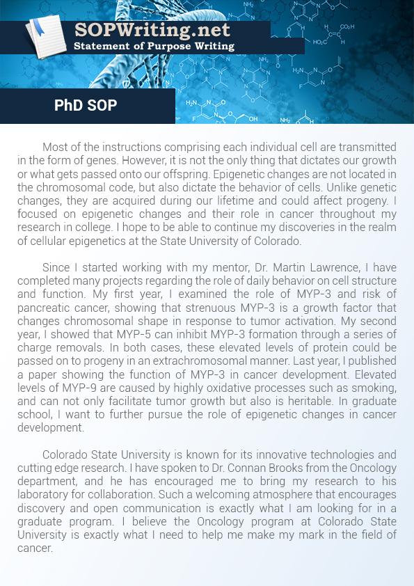 graduate statement of purpose example