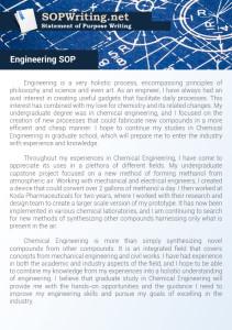 Statement of Purpose Engineering Example