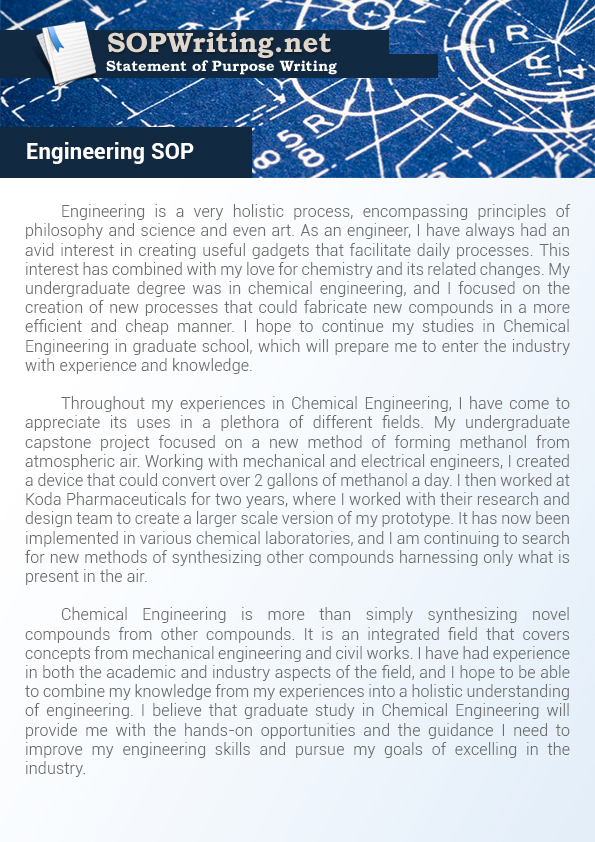 sop mechanical engineering A sample statement of purpose for a german the reason i took up mechanical engineering was that documents similar to statement of purpose for german.