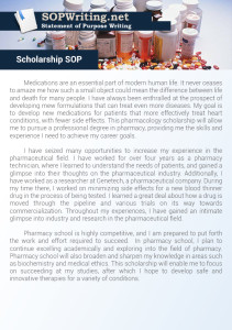 Statement of Purpose Scholarship Sample