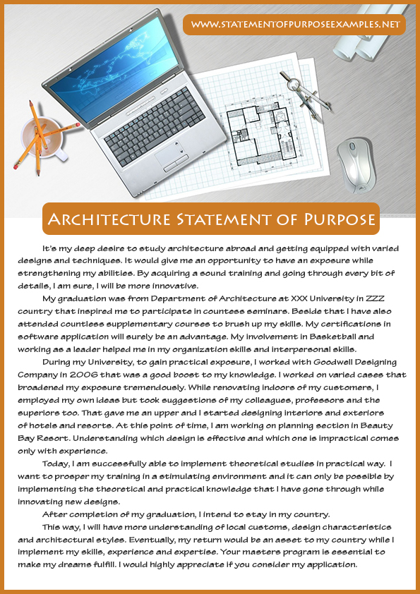 How To Write A Successful Architecture Statement Of Purpose Sample