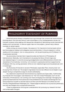 philosophy statement of purpose sample