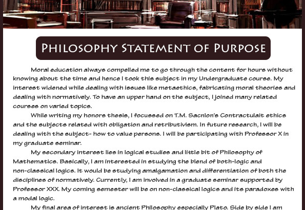How To Write An Effective Philosophy Statement Of Purpose Sample