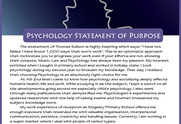 How To Write Best Statement Of Purpose Psychology Sample
