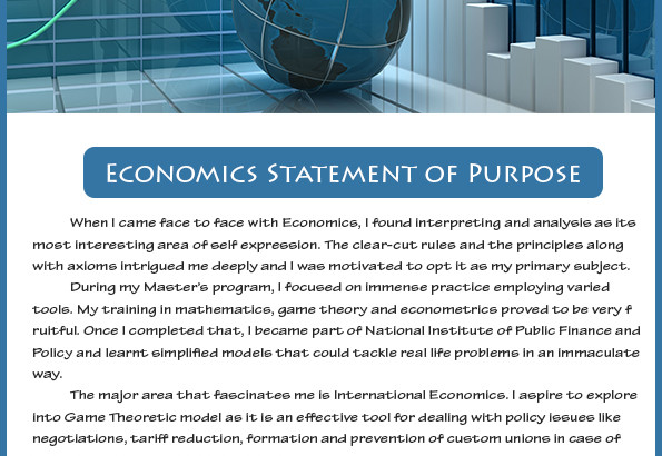 statement of purpose sample economics