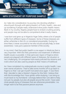 mph statement of purpose sample