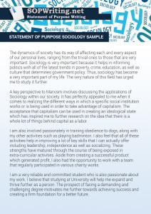 statement of purpose sociology sample