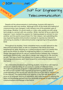 sop engineering telecommunication example