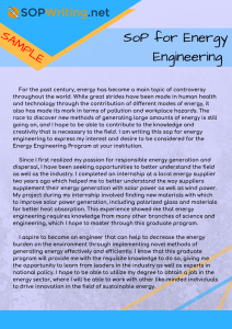 sop for energy engineering sample